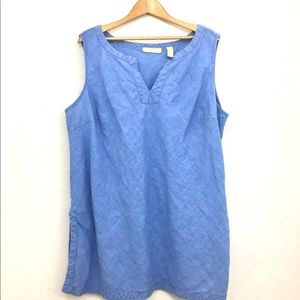 Chambray sleeveless tank top by Kate Hill size 3X